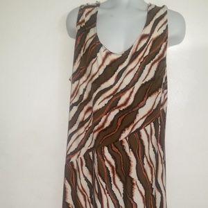 Maggie London Maxi Dress Sz. 24 Stretchy Diagonal